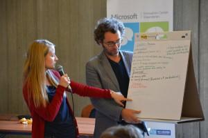 De presentatie van Sharon (foto: Microsoft Innovation Center Vlaanderen)