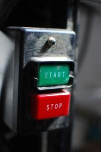 Start, stop, ga door