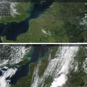 Op 15 juni was het een stuk bewolkter boven Belgë dan de dag voordien
